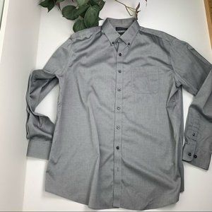 Denver Hayes Classic Fit Long Sleeve Never-Iron Button Down L